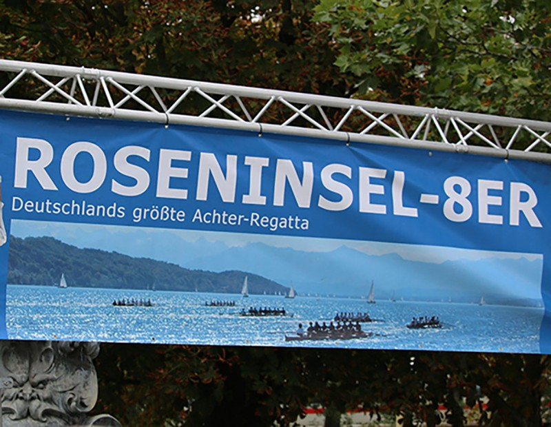 Roseninsel Banner