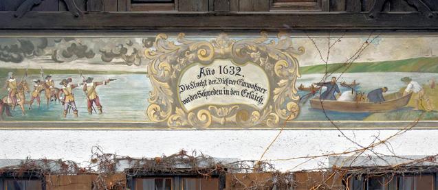 Lüftlmalerei in Dießen, Herrenstraße 9